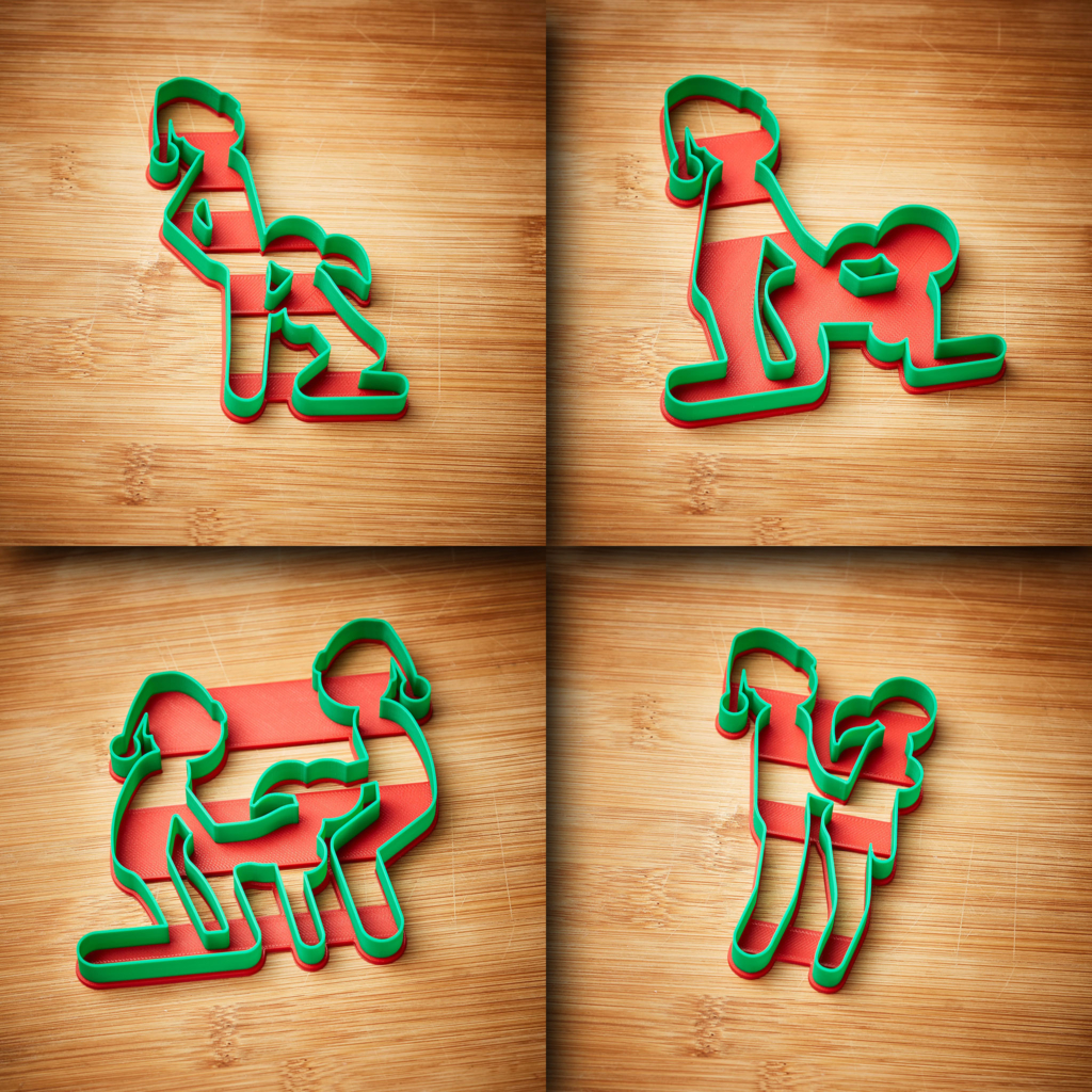 Sex Position Naughty Christmas 4 Cookie Cutter Kit